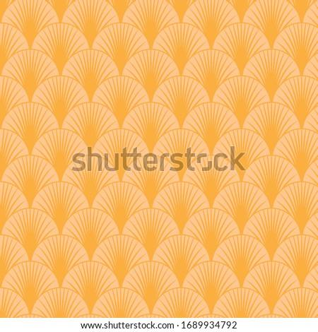 Orange art deco seamless pattern background