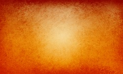 Orange autumn background with red vintage grunge texture border, elegant rich warm fall colors of thanksgiving and halloween in vector background