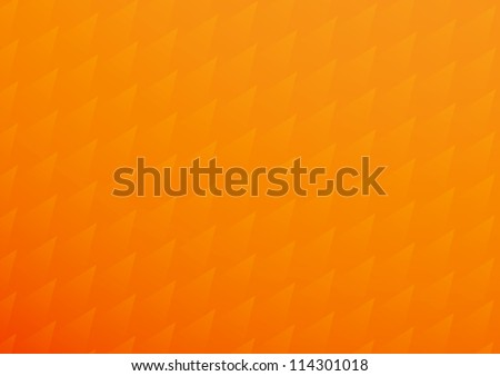Orange background with triangle scale pattern