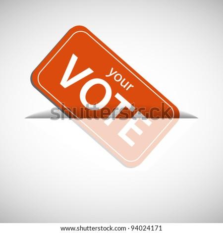 Orange ballot card inserting to slot