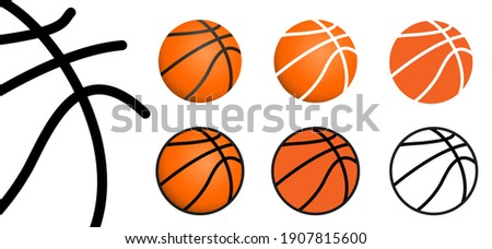 Orange basketball banner background. Game sports concept. Ball sport is a team sport. Flat vector icon. Basket Balls sign leather pattern