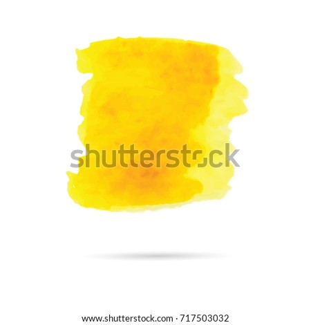 Orange beautiful abstract watercolor art hand paint on white background,Watercolor background for logo. - Shutterstock ID 717503032