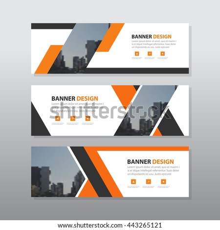 orange black abstract corporate