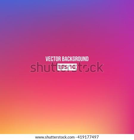 Orange, blue, purple, pink blur gradient. Vector, eps10.
