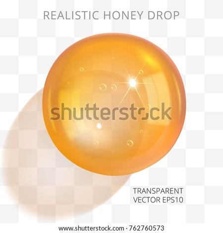 orange brown transparent drop
