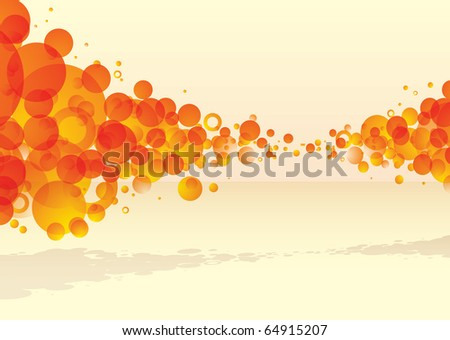 orange bubble explode with