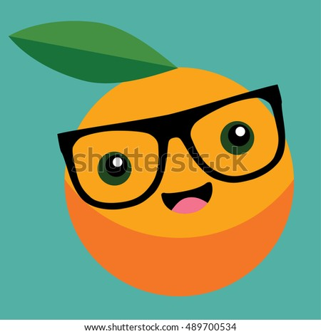 orange cartoon vector   food