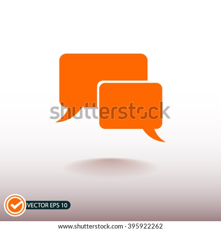 Chat icon clip art free vector 4vector - Chat orange ...