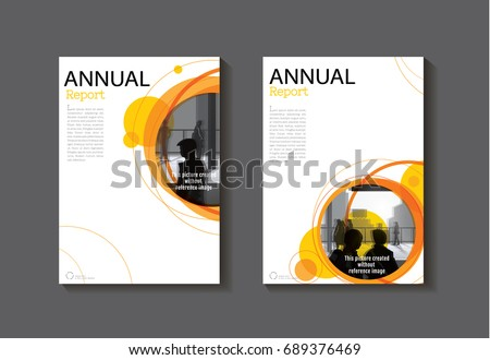 Orange Circle abstract cover modern  cover book Brochure template, design, annual report, magazine and flyer layout Vector a4