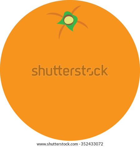 orange clip art   vector