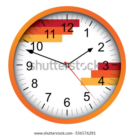 orange clock vector