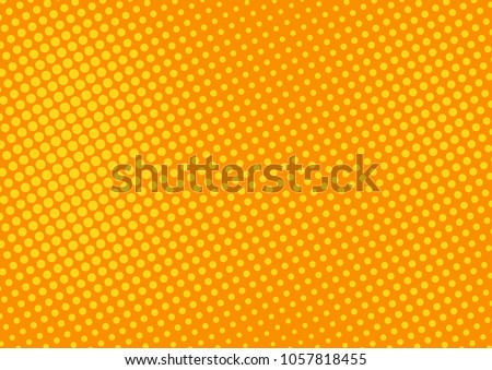 Orange comic pop-art halftone background vector