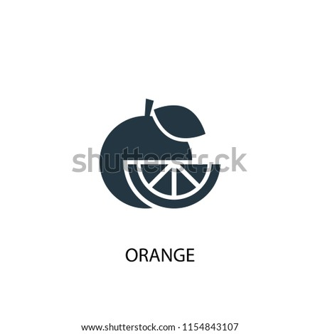 Orange creative icon. Simple element illustration. Orange concept symbol design from fruits collection. Can be used for web and mobile.