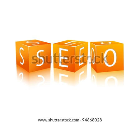 orange cubes isolated on white