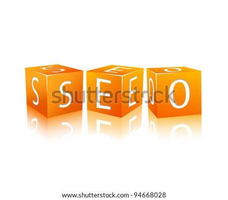 orange cubes isolated on white