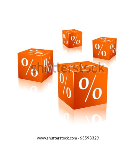 orange cubes with percentage
