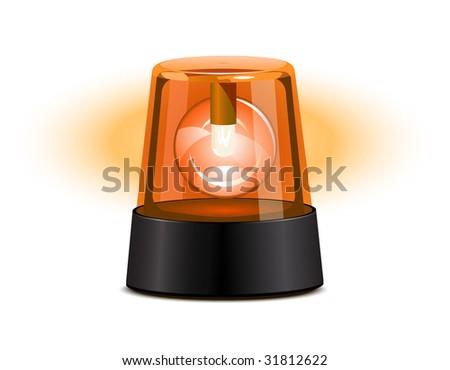 Orange flashing light