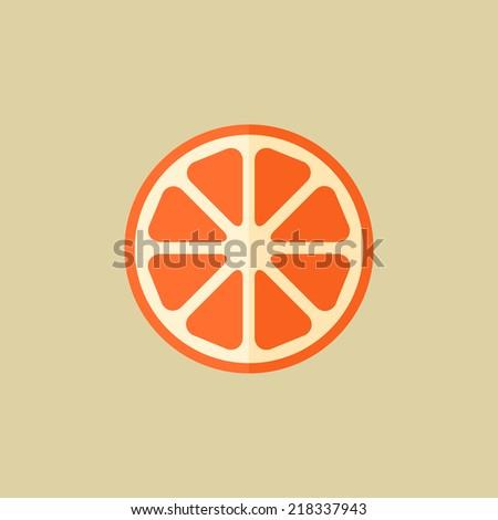 orange food flat icon