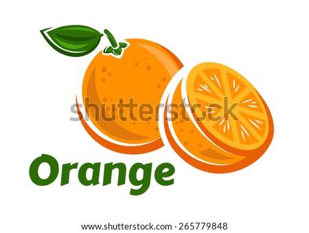 orange fruits poster in cartoon
