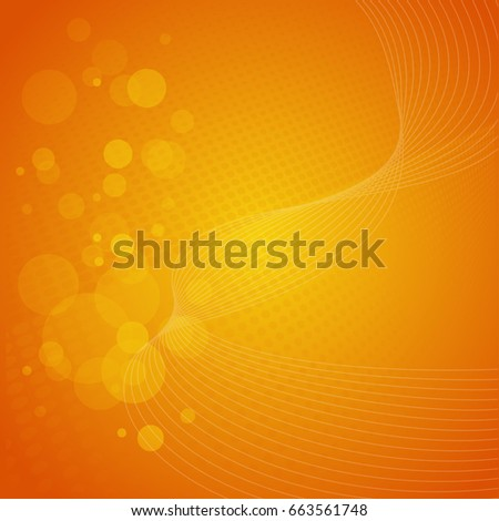 stock-vector-orange-gradient-vector-background-with-waves-dots-and-circles-abstract-illustration