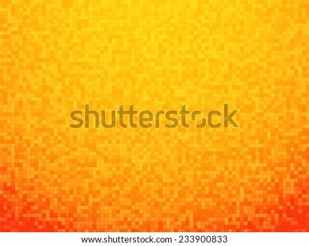 orange grain checkered background with red vignette