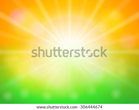 orange green abstract spring