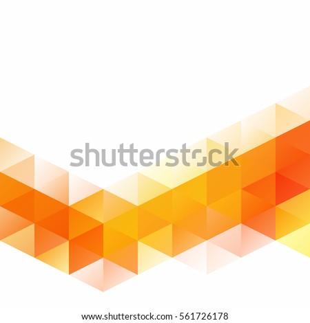 stock-vector-orange-grid-mosaic-background-creative-design-templates