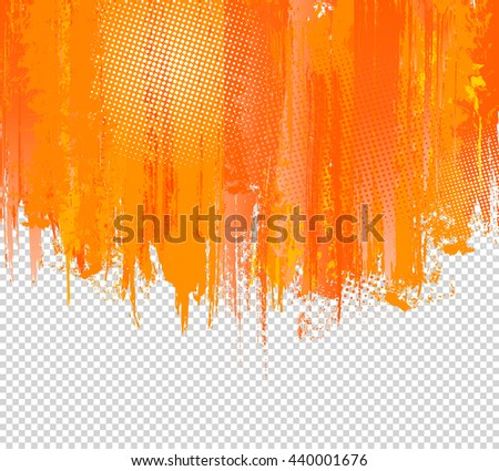 orange grunge paint splashes