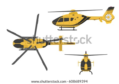 orange helicopter on a white