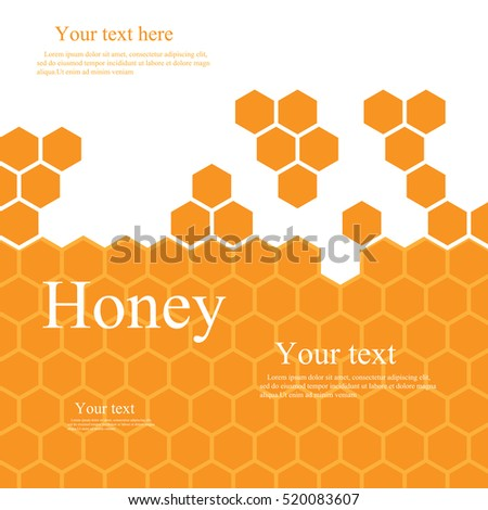 orange honeycomb with space for text. For your business, or presentation