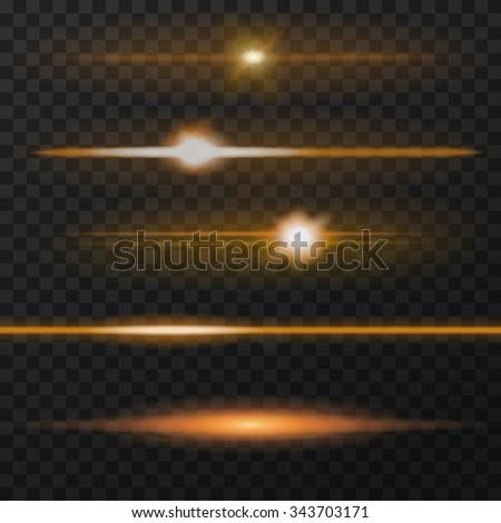 orange horizontal lens flares