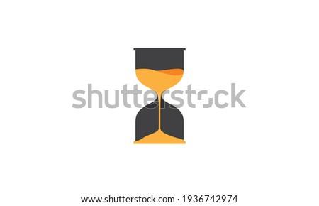 orange hourglass logo symbol vector icon illustration design