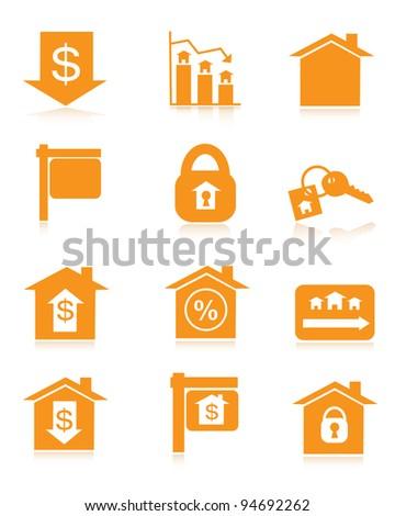 Orange Housing Market Icons