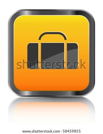 orange icon luggage isolated on white background #58459855