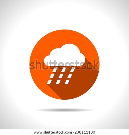 orange icon of heavy rain
