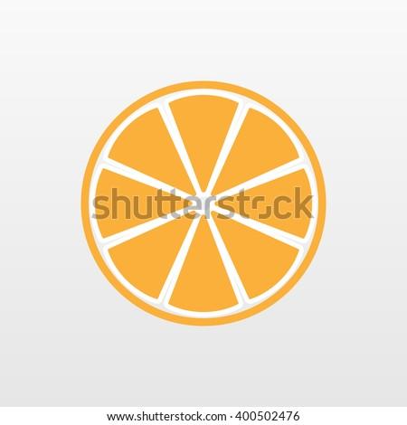 Orange icon. Slice vector isolated. Trendy natural symbol. Logo illustration