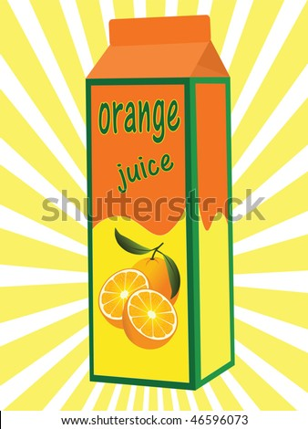 orange juice box vector