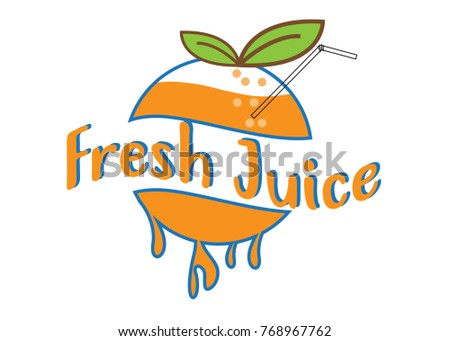 orange juice design logo
