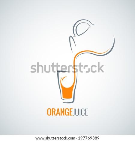 orange juice glass bottle background