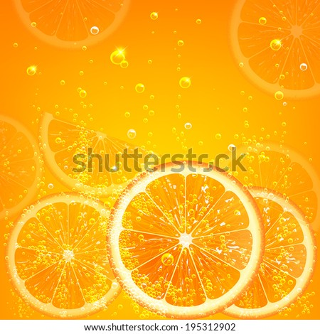 orange juice with slices of