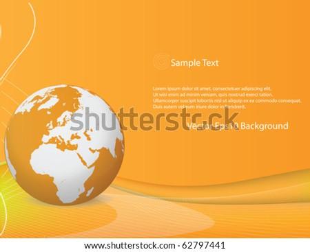 Orange Layout Vector Design