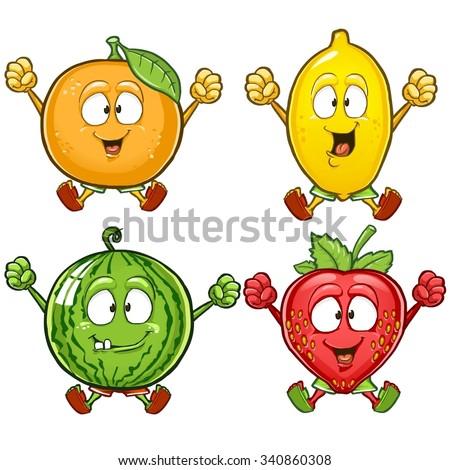 orange  lemon  watermelon and