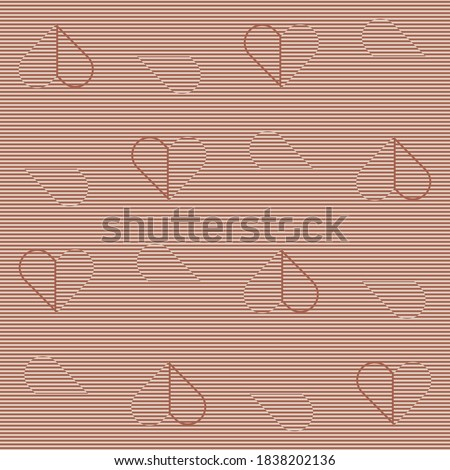 orange line and striped half