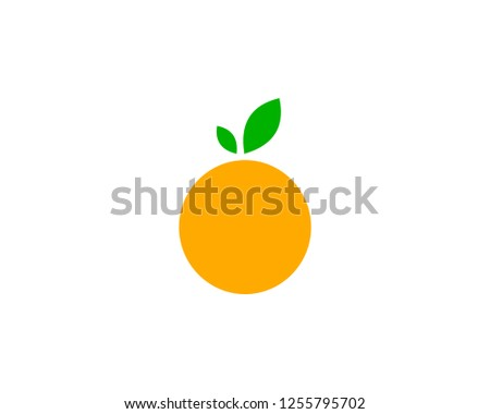 orange logo design vector icon