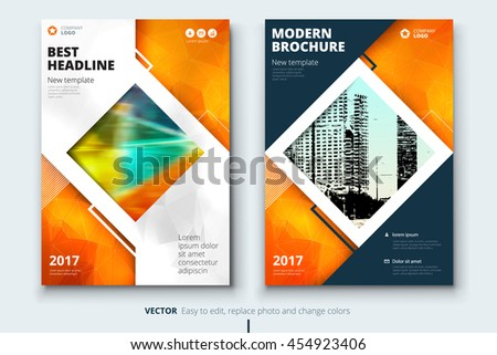 orange magazine cover design