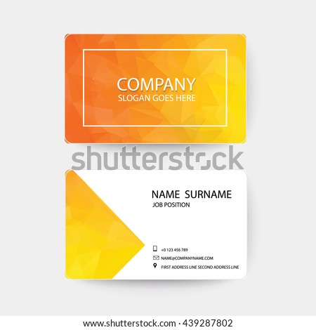 Orange Modern Business-Card.