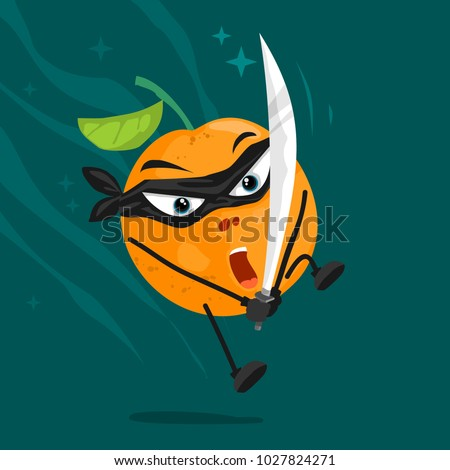 orange ninja cartoon