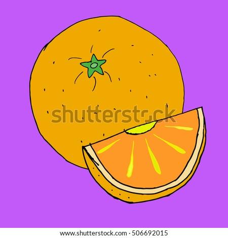 orange on purple background
