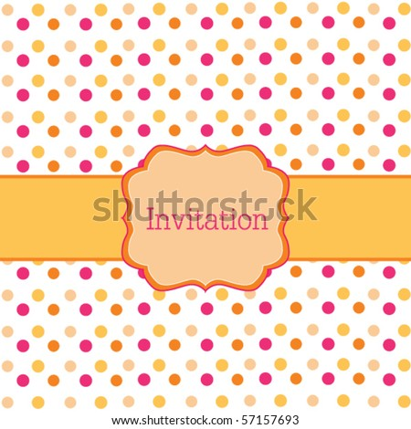 Orange polka dot design  frame