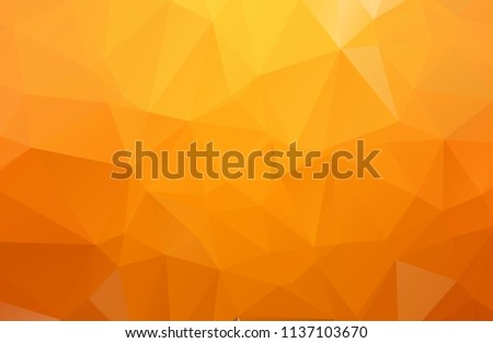 Orange Polygonal Mosaic Background. geometric pattern, triangles background. Creative Business Design Templates. Vector illustration.